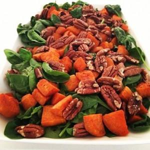 Cinnamon-roasted Sweet Potato and Pecan Salad robynpatton.com