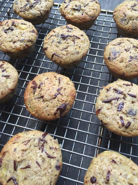 Buckwheat Banana Chocolate Muffins