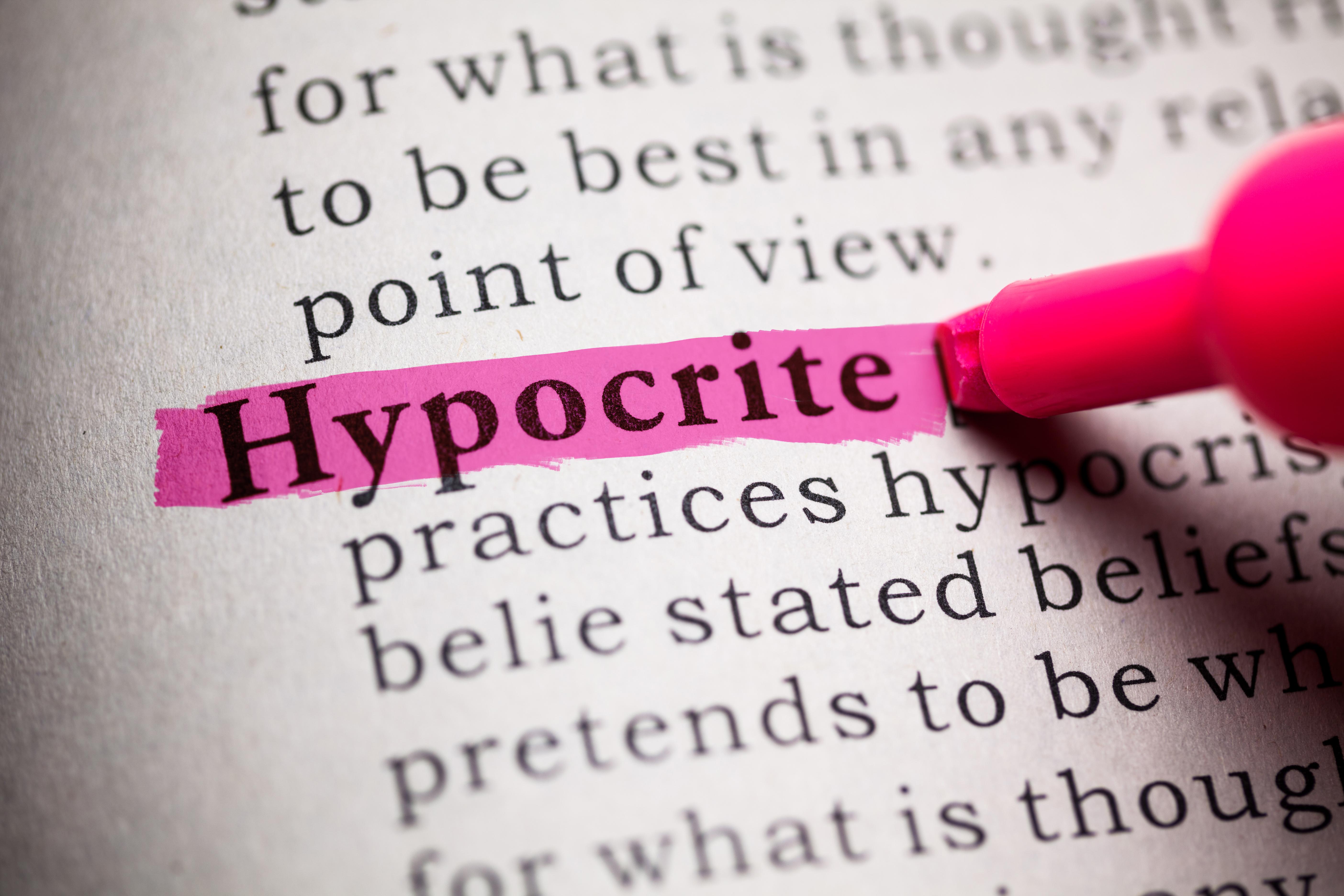 Hello, meet my Inner Hypocrite
