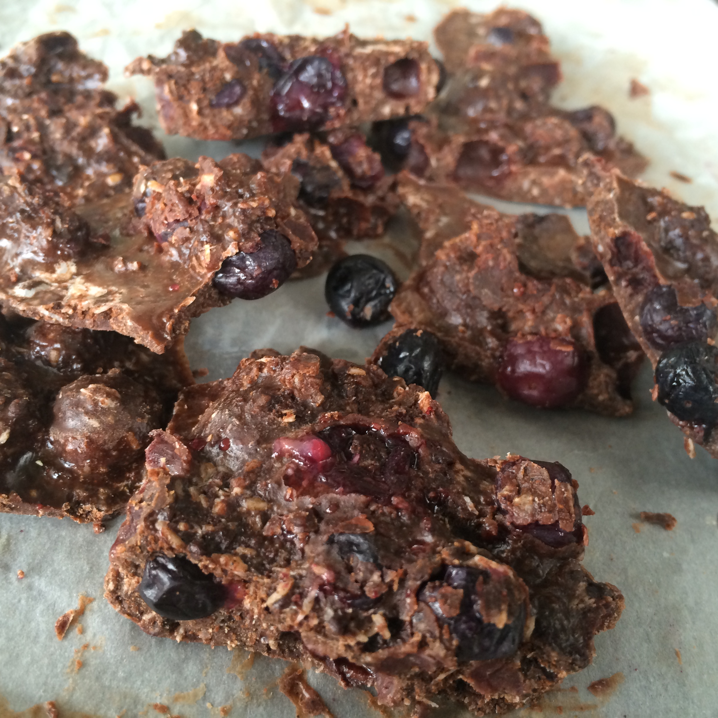 Carob Blueberry Bark