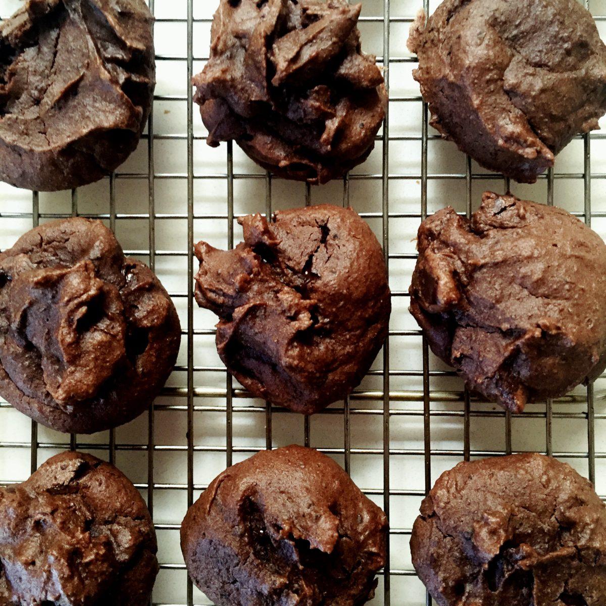Sweet Bean Fudgy Cookies